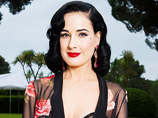 Dita Von Teese Launches (and Poses in) Maternity Lingerie Line