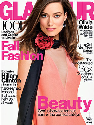 Olivia Wilde breastfeeding Glamour magazine