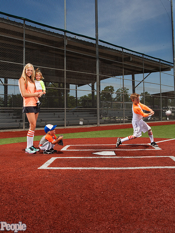 Jennie Finch Family Outdoors