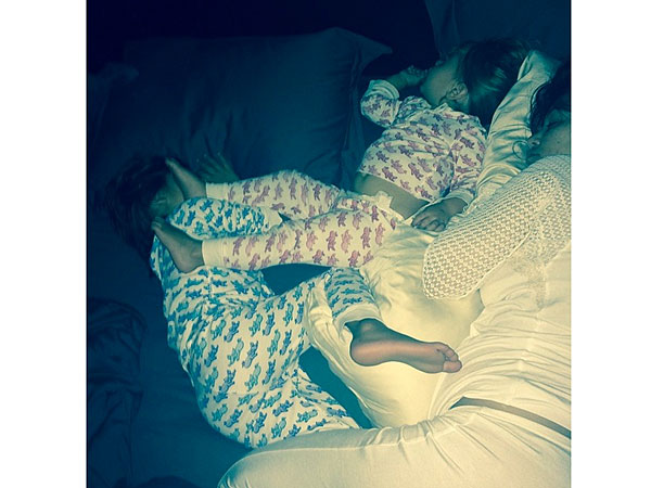 Kourtney Kardashian Kids Sleeping Instagram