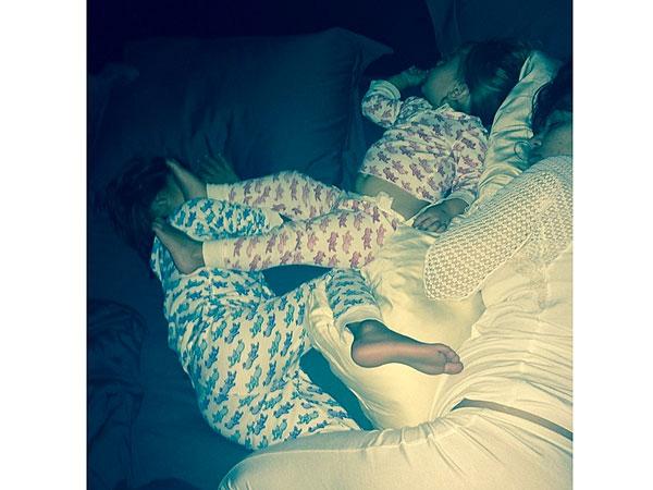 Kourtney Kardashian Kids Sleeping Instagram