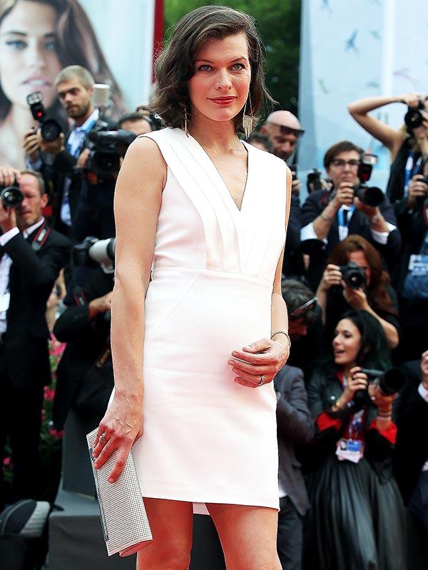 Milla Jovovich Pregnant Cymbeline Premiere