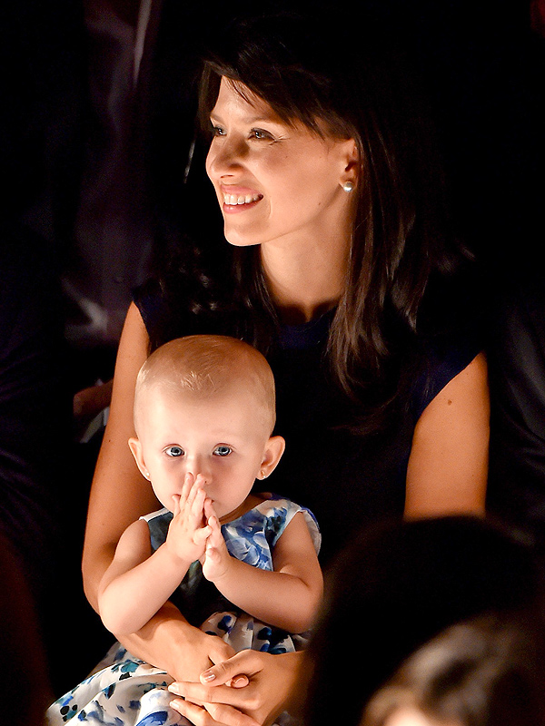 Hilaria Baldwin Daughter Carmen Fashion Show