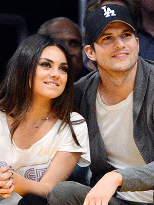 Ashton Kutcher Mila Kunis Welcome Daughter