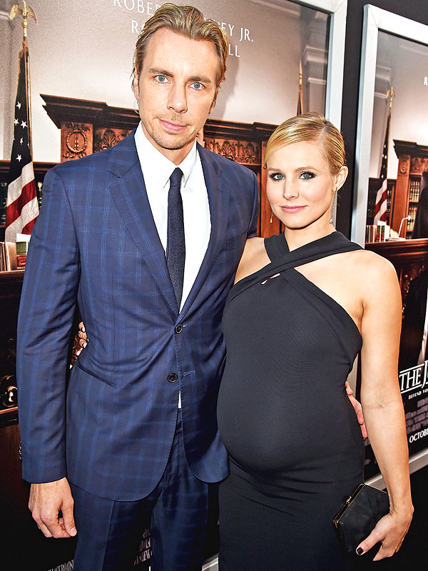 Image result for kristen bell pregnant and dax shepard
