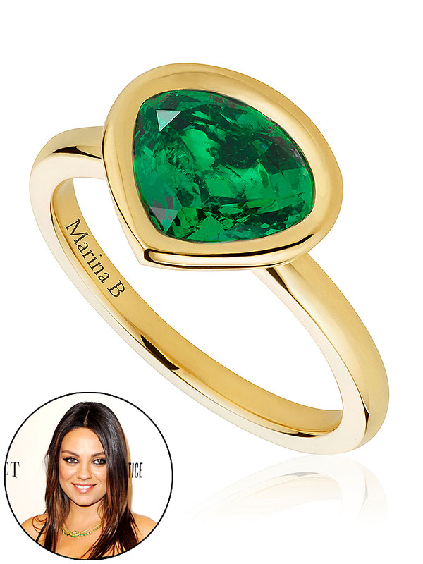 Mila Kunis Motherhood Ring