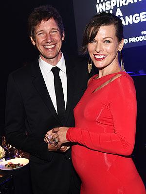 Milla Jovovich Pregnant Amfar Ambassador gala