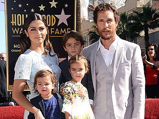 Matthew McConaughey Receives Star on Walk of Fame – and It's an Adorable Family Affair