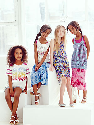 Diddy Sean Combs Daughters D'Lila Jessie Chance Ruum Fashion Campaign