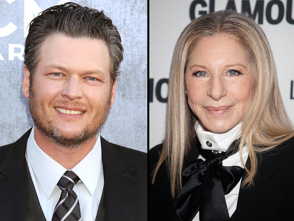 Blake Shelton, Barbra Streisand Duet Interview