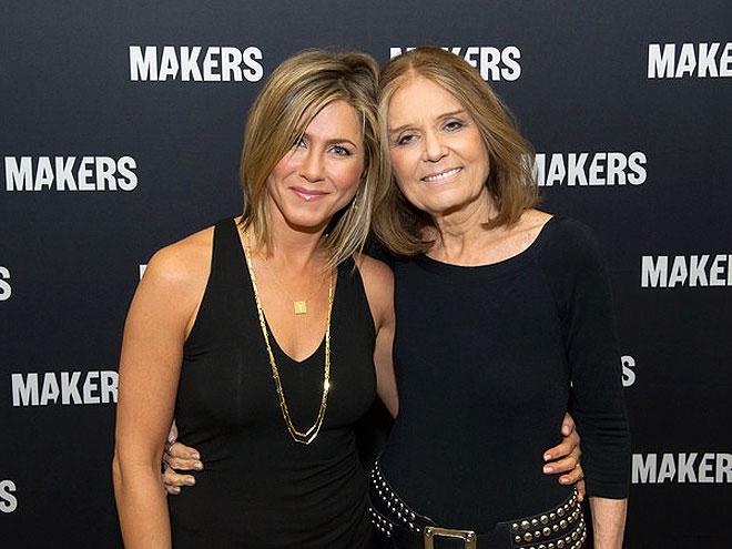photo | Gloria Steinem, Jennifer Aniston