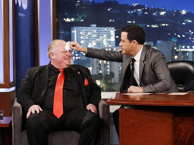 photo | Jimmy Kimmel, Rob Ford