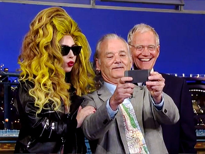 photo | Bill Murray, David Letterman, Lady Gaga