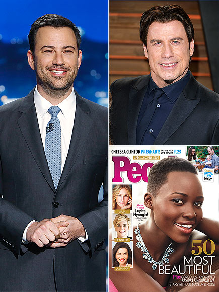 photo | Jimmy Kimmel, John Travolta, Lupita Nyong'o