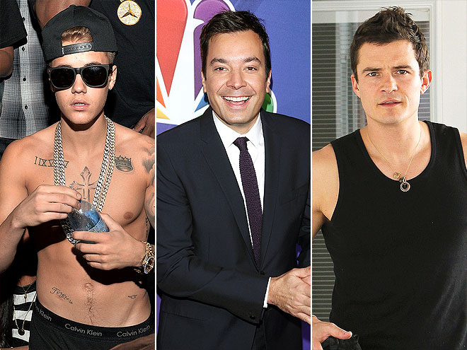 photo | Jimmy Fallon, Justin Bieber, Orlando Bloom
