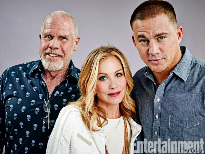 RON PERLMAN, CHRISTINA APPLEGATE & CHANNING TATUM