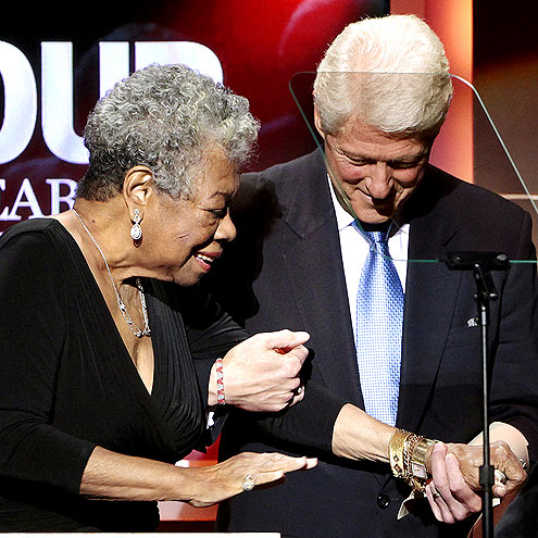 BILL CLINTON photo | Bill Clinton, Maya Angelou