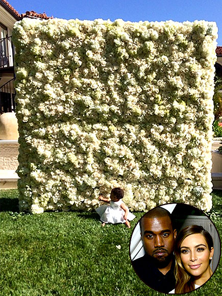 KANYE TO KIM: A FLOWER WALL photo | Kanye West, Kim Kardashian