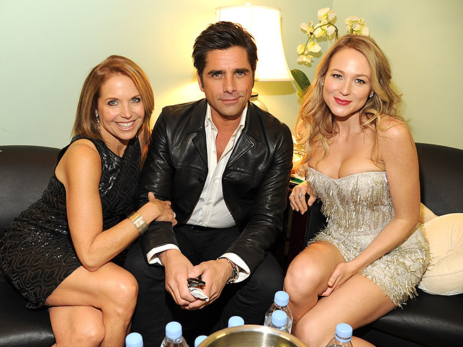 FULL COUCH photo | Jewel, John Stamos, Katie Couric