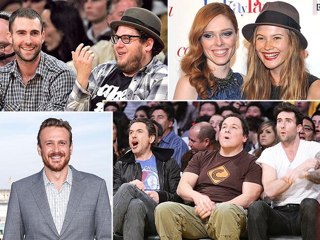 THEIR GUEST LIST photo | Adam Levine, Behati Prinsloo, Coco Rocha, Jason Segel, Jonah Hill, Robert Downey Jr.