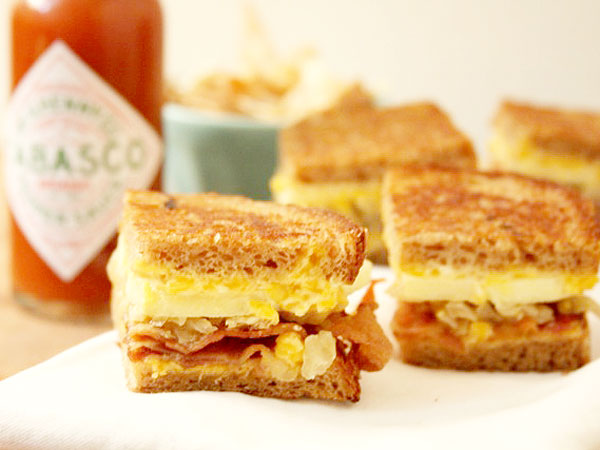 James Briscione Bacon Grilled Cheese Sandwich