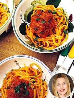 Drew Barrymore's Spaghetti and Meatballs Recipe