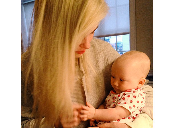 Aw! Ireland Baldwin Cuddles with Her Baby