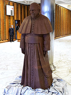 Chocolate Pope Francis