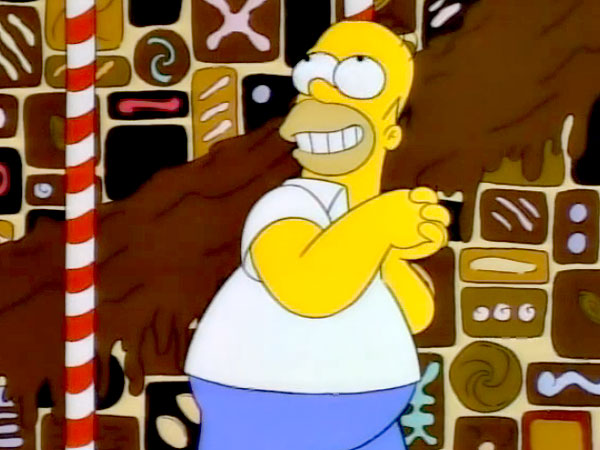 Homer Simpson Land of Chocolate