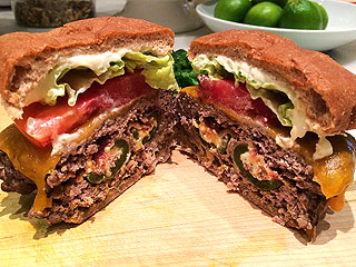 Tim McGraw Super Bowl jalapeno cheeseburger