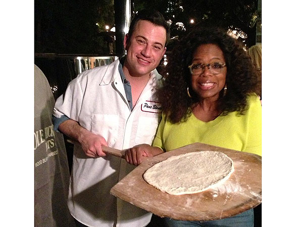Oprah and Jimmy Kimmel Eat Pizza