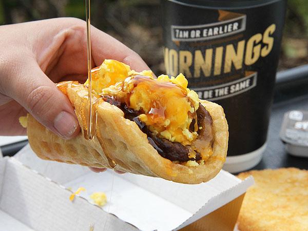 Taco Bell Waffle Taco Breakfast