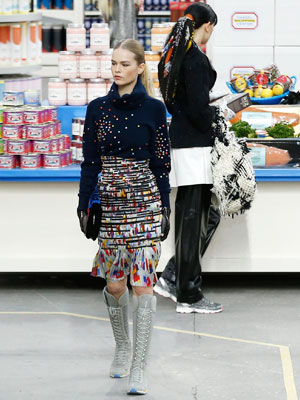Chanel's Supermarket-Themed Fashion Show