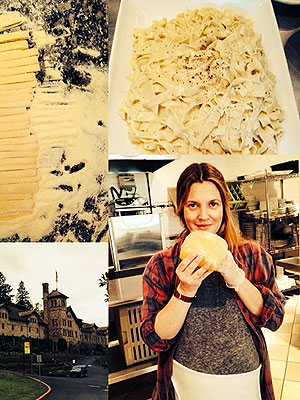 Drew Barrymore Pasta Class