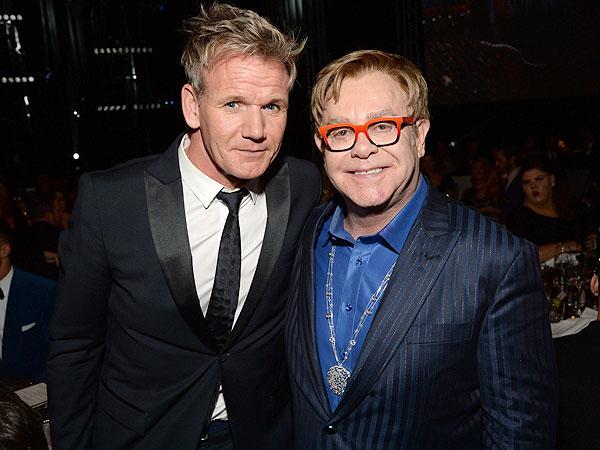 Gordon Ramsay and Elton John
