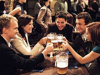 From The Max to Moe's Tavern: The Best TV Hangout Spots of All Time | How I Met Your Mother, Alyson Hannigan, Cobie Smulders, Jason Segel, Josh Radnor, Neil Patrick Harris