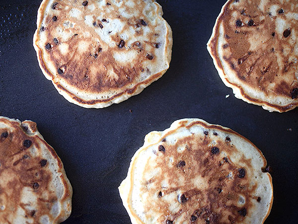 Bakerella Banana Chocolate Chip Pancakes