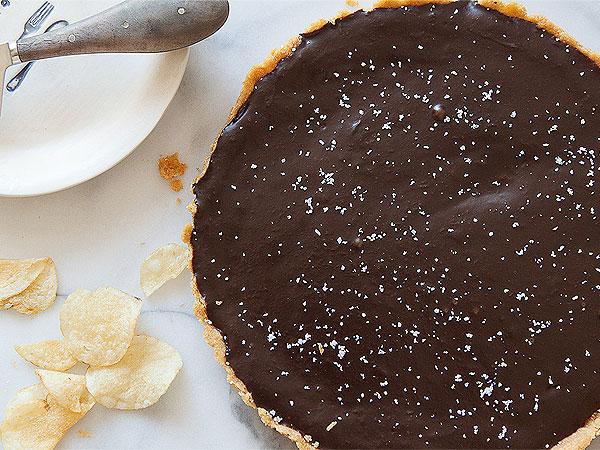 Salted Chocolate Tart with Potato-Chip Crust Recipe