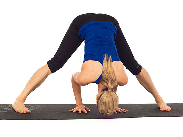 Yoga Standing Straddle Forward Bend