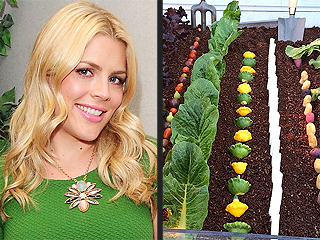 Eat Dirt! Busy Philipps Shares a Veggie Platter with Edible 'Soil'