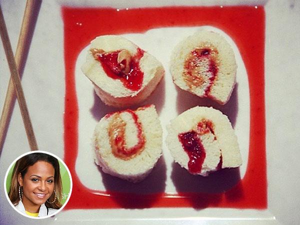 Christina Milian Peanut Butter & Jelly Sushi