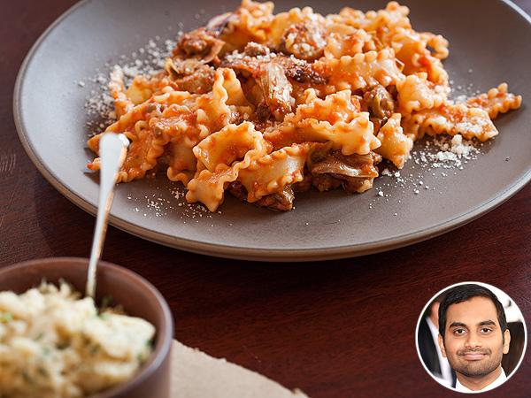 Aziz Ansari Ava Gene's Pasta Portland