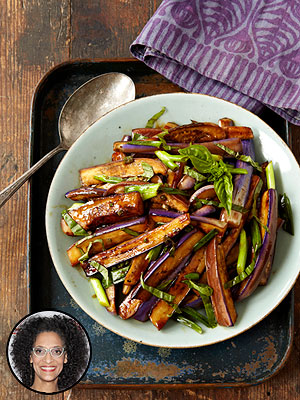 Carla Hall Vegetarian Eggplant Stir Fry Recipe