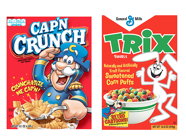 Study Cereal Box Characters Lure Children With Eye Gaze