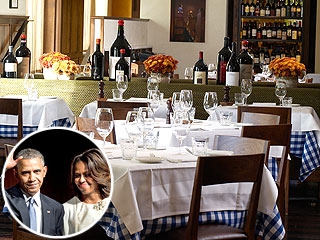 President Barack Obama and First Lady Michelle Obama Dine at Maialino in NYC