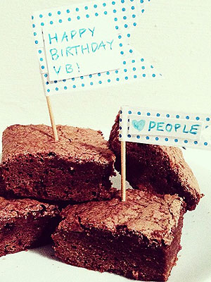 Victoria Beckham: 40th Birthday Brownies Recipes
