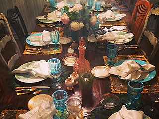 Whitney Port Passover Table
