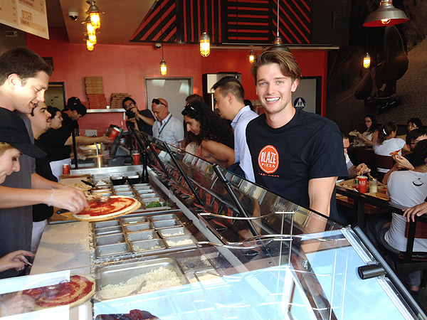 Patrick Schwarzenegger at Blaze Pizza
