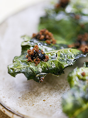 Kale Chips with Rye