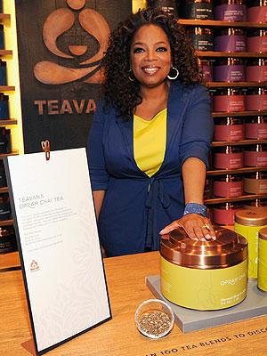 Oprah Surprises Patrons for Launch of Oprah Chai